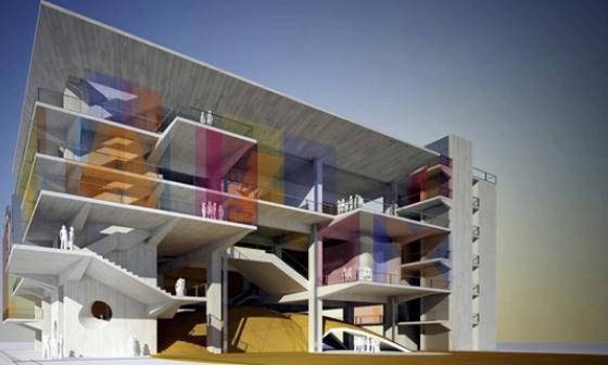 Diseño de la Fábrica de Cultura en Barranquilla.