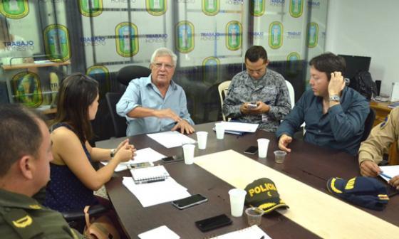 Joao Herrera durante un Consejo de Seguridad.