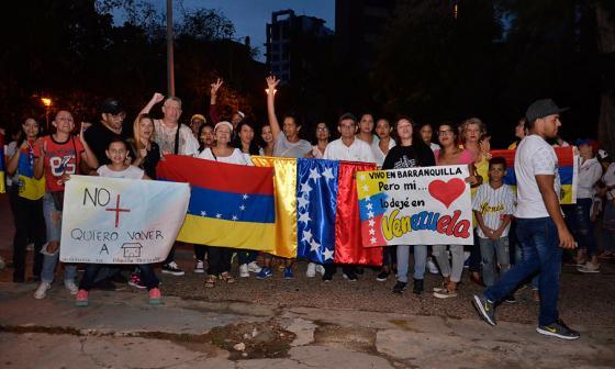 Venezolanos en Cartagena y Barranquilla protestaron contra el gobierno de Nicolás Maduro