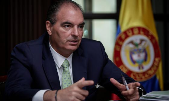 Aurelio Iragorri Valencia, ministro de agricultura.