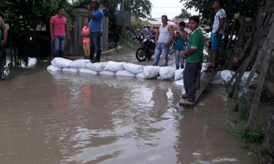 Aspecto de la emergencia invernal en Sucre.