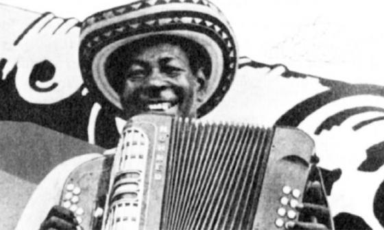 Imagen del acordeonero, compositor y cantante Alejo Durán.
