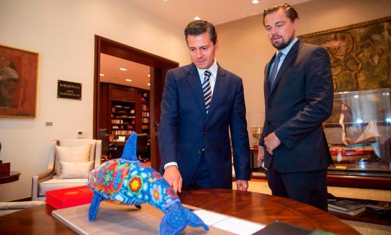 Leonardo DiCaprio realiza campaña para salvar vacas marinas en México
