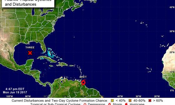 Aumentan lluvias en el Atlántico por tormenta tropical