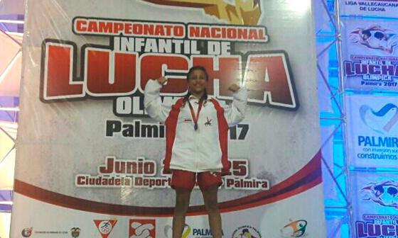 Dos oros logra Atlántico en torneo de lucha infantil