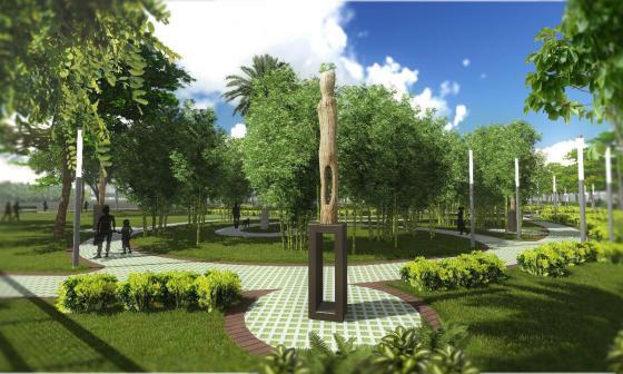 El alcalde Pineda mostró los planos de lo que será la nueva Ronda del Sinú del sur.