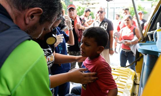 17 niños resultaron heridos en desalojo con lacrimógenos en centro comercial de Caracas