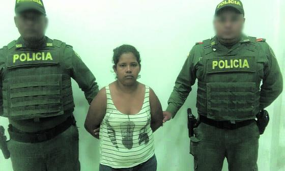 María Angélica Villero Peñate, capturada.