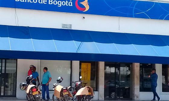 Sede del Banco de Bogotá donde se presentó el hecho.
