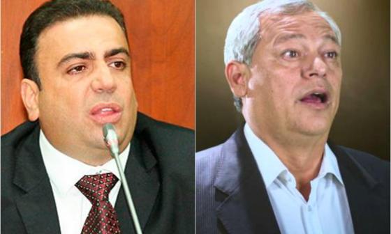 Los senadores Musa Besaile y Hernán Andrade.
