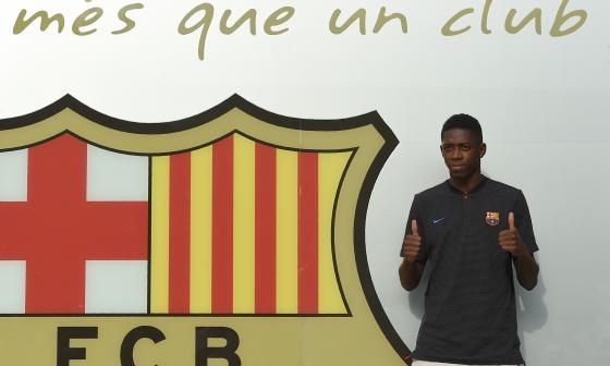 Dembelé ya está en Barcelona para lucir los colores del equipo culé