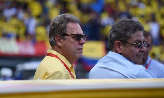 Ramón Jesurun Franco en el estadio Roberto Meléndez antes del partido entre Colombia y Brasil, el martes pasado.