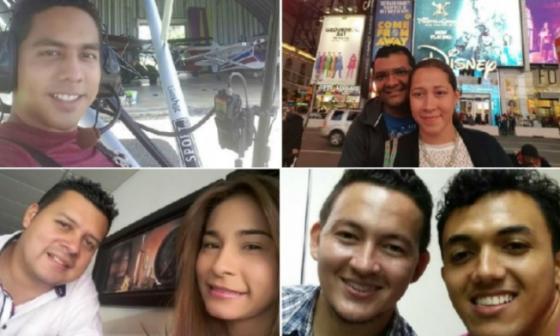 De arriba a derecha, parte superior: Danilo Rojas Méndez; Nobel Sierra y Diana Vargas. Mismo orden, parte inferior: Luis Carlos Pinzón y Angelly Cantillo; Kevin García Gallardo y Camilo Verbel.