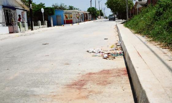 Barrio El Bosque, donde sucedió el hecho de sangre en la mañana de este martes.