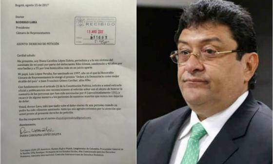 Cámara de Representantes revocó condecoración a Kiko Gómez