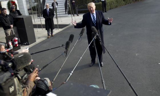 Donald Trump celebra la aprobación de la reforma fiscal en EEUU