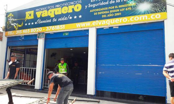 Cierran por diez días local de venta de pólvora en Soledad