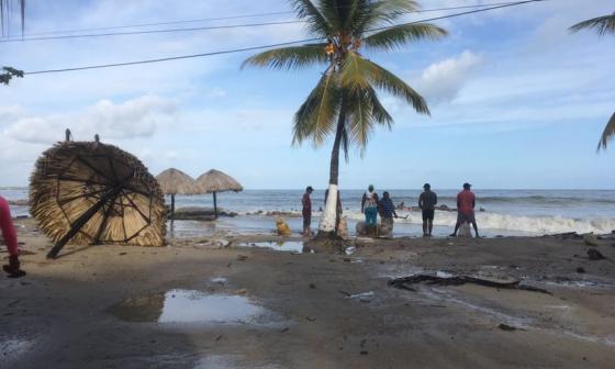 El mar de leva destrozó 9 kilómetros de playa en San Antero