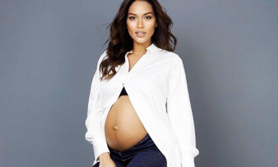 La exreina Andrea Tovar durante su embarazo.