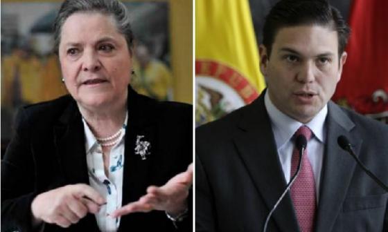 Clara López Obregón y Juan Carlos Pinzón.