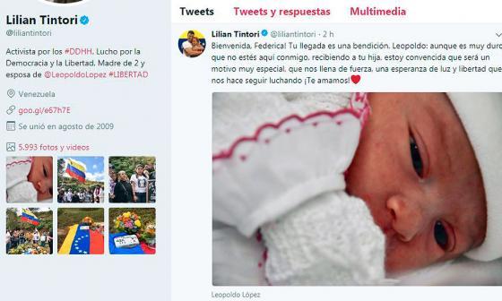 Nace Federica, el tercer hijo de Leopoldo López