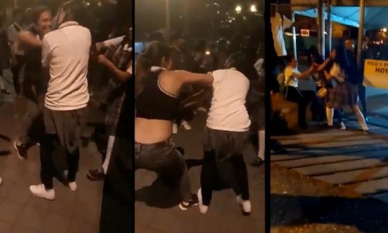 Capturas de los videos que están en redes sociales de la agresión.