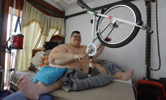 El hombre más gordo del mundo sueña con volver a caminar