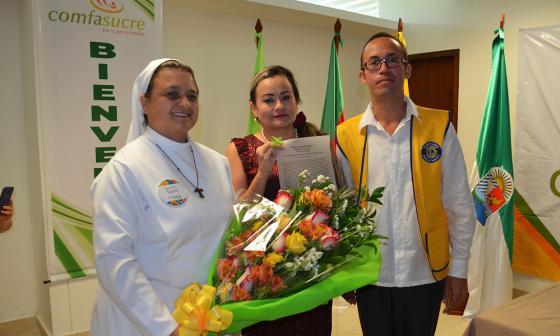Monja que trabaja por los enfermos de lepra, la Mujer Cafam Sucre 2018