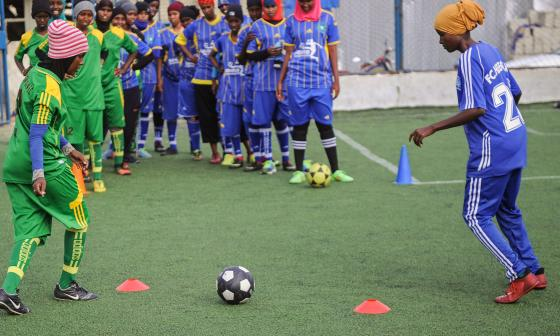 Momento en el que las mujeres de Somalia entrenan.