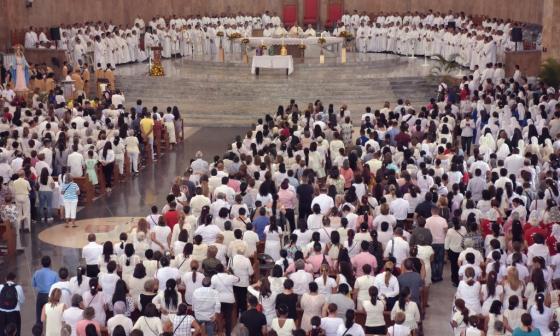 Con la bendición de los óleos, sacerdotes se preparan para la Semana Mayor