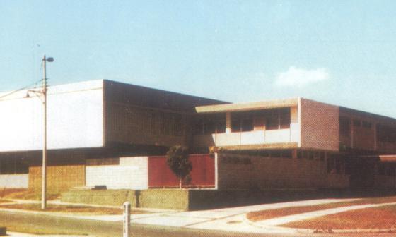 Panorámica del Centro Israelita Filantrópico el día de su inauguración, en 1958.