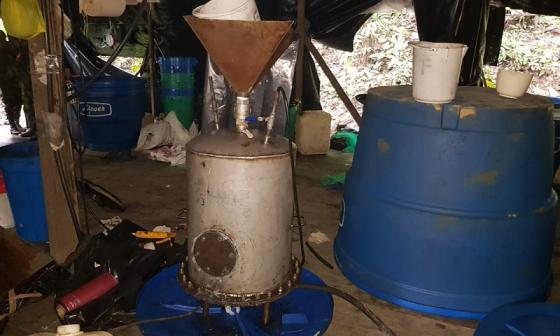 Ejército Nacional destruye laboratorio de cocaína de alias Guacho