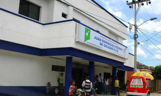 Sede del hospital Juan Domínguez Romero, ubicado en Soledad.