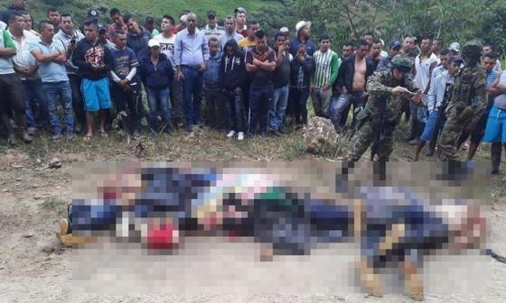 Identifican a seis de los cuerpos hallados en Argelia: dos serían disidentes de las Farc