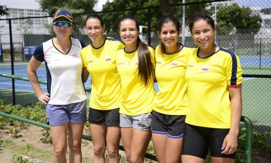 Catalina Castaño (capitana), Mariana Duque, María Camila Osorio, María Paulina Pérez y 'Mafe' Herazo.