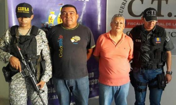 Hugo Méndez y Álvaro Martínez, en su captura.