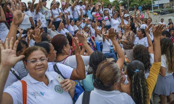 En video | Madres comunitarias protestan nuevamente para pedir que se les reconozca pensión
