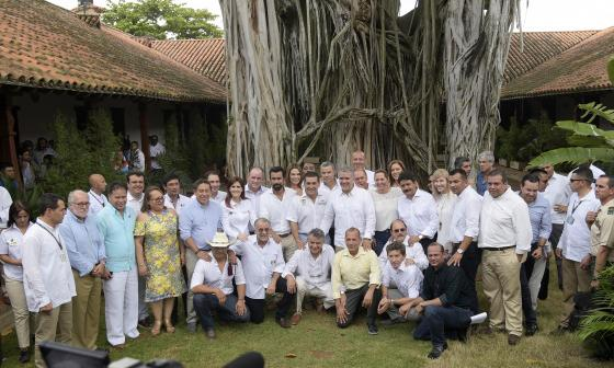 El presidente Duque y los gobernadores.