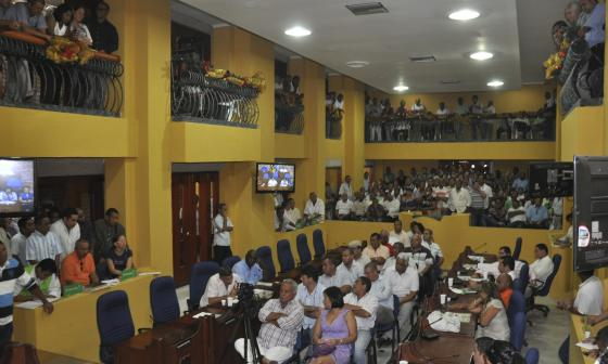 Sesión del concejo sobre la elección de la Contralora.