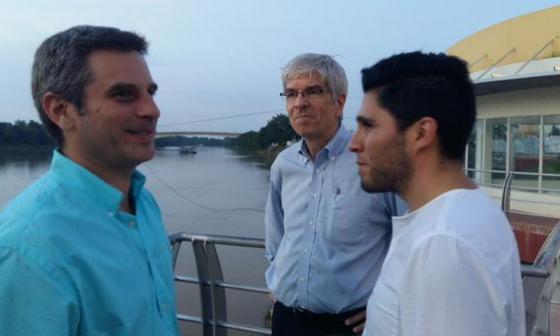 Romer visitó Montería junto al entonces alcalde, Carlos Eduardo Correa.