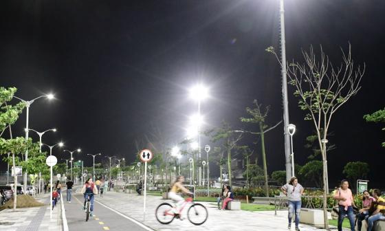 Barranquilla tiene la mitad de sus luminarias con sistema Led
