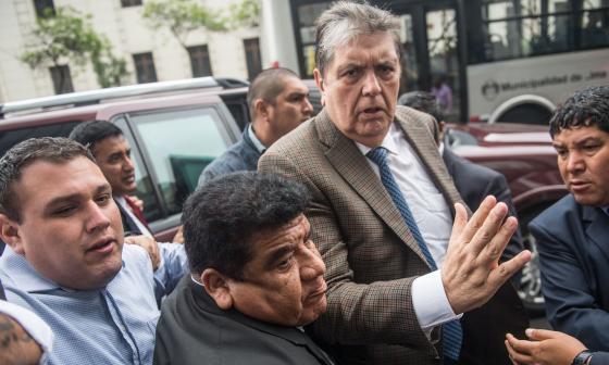 García fue llamado como testigo como parte de la investigación de Odebrecht, pero la audiencia fue cancelada en el último minuto.