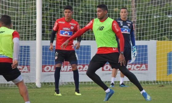 Ruiz en el entrenamiento.