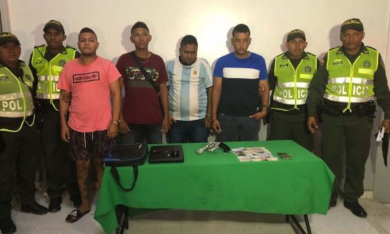 Los cuatro capturados en La Concepción.