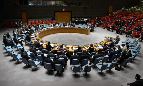 Consejo de seguridad de la ONU reunido en Nueva York.