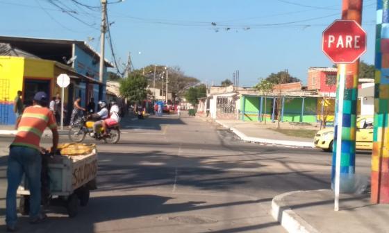 La calle de Rebolo en donde se registraron los hechos.
