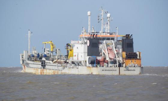 Más de 4 mil metros3 de sedimento removió  la draga en cuatro horas