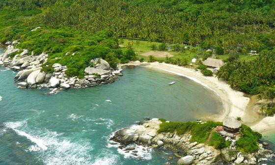 Un sector del Parque Tayrona que desde hoy no permitirá el ingreso de turistas.