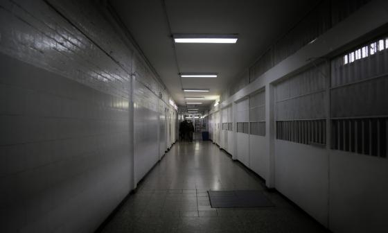Un pasillo de la cárcel La Modelo, ubicada en la localidad Puente Aranda, en Bogotá.