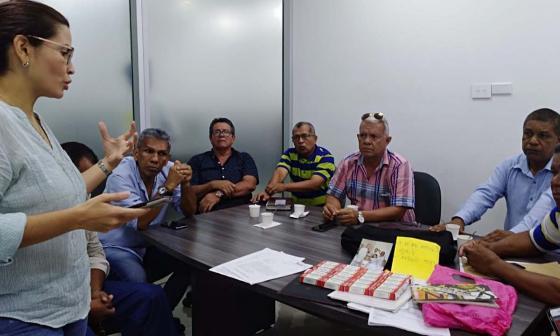 Orieta Nigrinis López, Intendencia Regional de Supersociedades, reunido con trabajadores de Pizano.